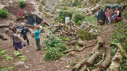 Play Wild forest school area at Wood Lane Quarry in Weston. Picture: MARK ATHERTON