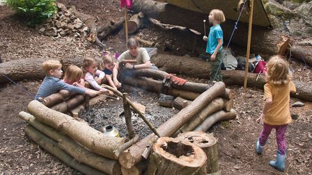 Play Wild CICs forest school area at Wood Lane Quarry in Weston. Picture: MARK ATHERTON