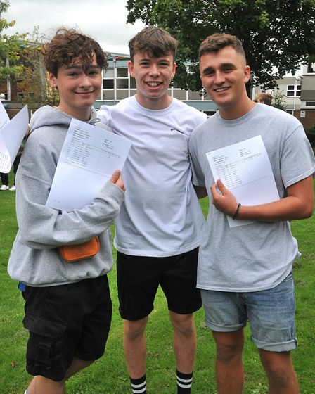 Jack, Ben and tedBackwell School GCSE Results22,08,19