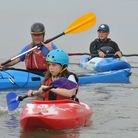 A 12-hour Have A Go charity paddle board on Clevedon Marine Lake in aid of Springboard Opportunity G