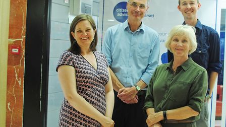 Fiona Cope Citizens Advice, Cllr Don Davies, Cllr Catherine Gibbons, Andy Jones Citizens Advice
