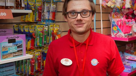 Adam Baker, aged 24, has autism and found employment at Weston's Grand Pier.