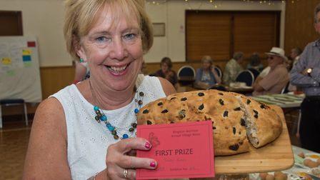 Trudy Harris and her lovely loaf at Kingston Seymour Village Show. Picture: MARK ATHERTON