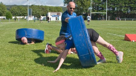 Weston Rugby Football Club. Family Fun Day at the Recreation Ground. Picture: MARK ATHERTON