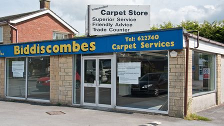 Vacant Biddiscombes carpet shop in Winterstoke Road. Picture: MARK ATHERTON