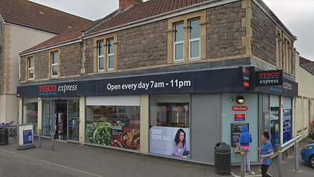 The incident took place in Tesco Express on Sunday. Picture: Google
