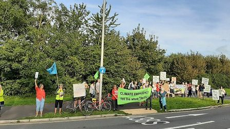 A protest was held outside Bristol Airport on August 29..Picture: Bill Roberts