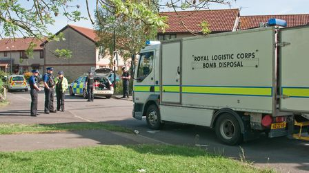 An explosion occurred in the Appletree Court area of Worle. Picture: MARK ATHERTON