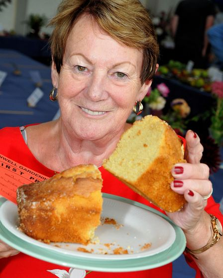 Joyce Hemmings with her lemon drizzle cake.