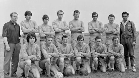 The Weston-super-Mare AFC team that lost 0-2 to Andover in the club's first home game of the season.