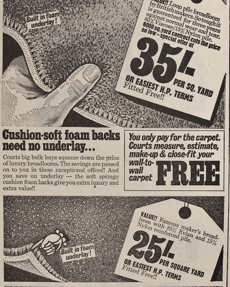 Ads 12th September 1969 Edition. Picture: WESTON MERCURY