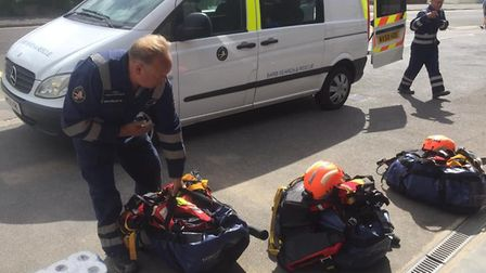 BARB's Marine Mammal Medic team arrive at Brean beach after reports a porposie had been washed up on