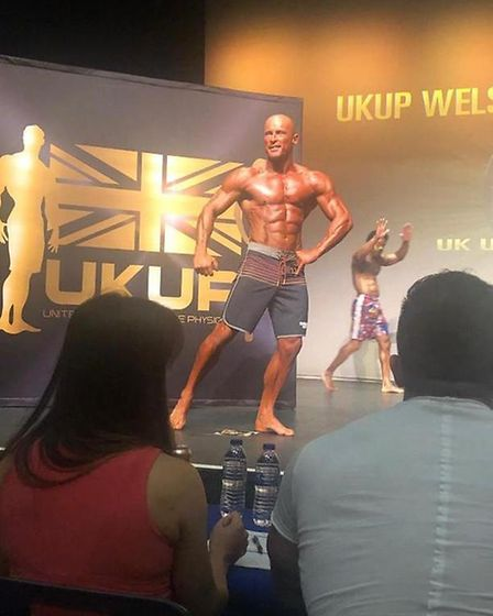 John Kershaw competing at the Ultimate Physique Wales/South West Championship. Picture: Polly Gan