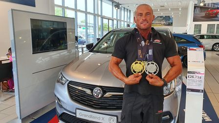 Weston mechanic John Kershaw took home gold at the Ultimate Physique Wales/South West Championship.