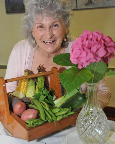 Sylvia Ashman won the Best Flower In Show award at Redhill Harvest Fair.Picture: Jeremy Long