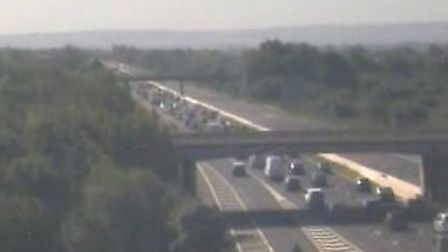 A crash is causing delays on the M5. Picture: Highways England