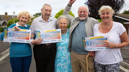 Ann Gawthorpe, Brian and Ann Parker, Max and Brigitte Maslen. Picture: People's Postcode Lottery.