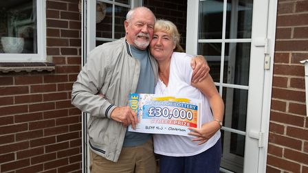 Brigitte Maslen with her stepfather Max. Picture: People's Postcode Lottery.