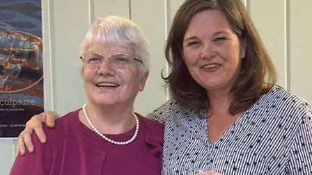 Jean Hook with Chief officer of CANS, Fiona Cope
