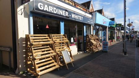 Gardiner-Whites will no longer display produce at the front of the shop after 'excessive thefts'. P