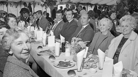 Some of the guests at Allerton Harvest Home Luncheon. Picture: WESTON MERCURY