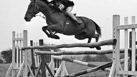 Anita Johns (Bleadon) on Pip the Seventh as she takes him over the last jump at North Somerset Hunt