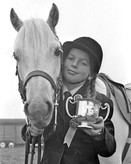 11-year-old Heather Baker who won the trophy for best pony of the year at North Somerset Hunt Club e