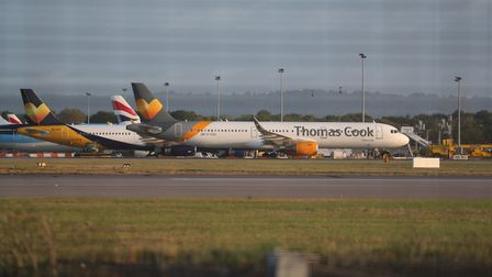 A Thomas Cook plane on the tarmac. Picture: Steve Parsons/PA Wire