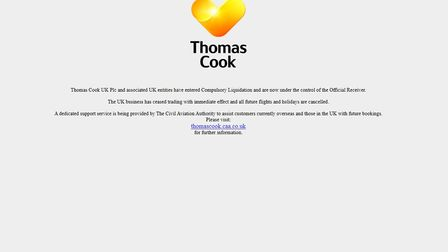 A screengrab taken from the website of travel agent Thomas Cook. Picture: Thomas Cook/PA Wire