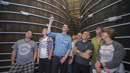 Visitors are fascinated by the 150-year-old oak vats at Thatchers Cider.