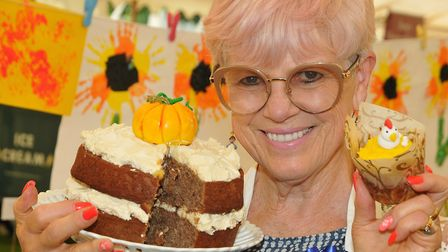 Rachelle Gauci-Jones with her prize-winning cake entries.Picture: Jeremy Long