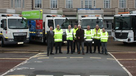 The new recycling crews for North Somerset.