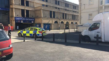 Police outside the Sovereign centre Picture: Lily Newton-Browne