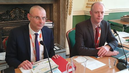 Malcolm Rivett and Steven Lee at the start of the JSP hearing. Picture: BBC/Stephen Sumner