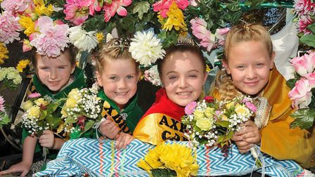 Carnival Queen Hannah Chattwood, princesses Sophie Hollyfield, Lily Carr and flowergirl Alissa Durbi