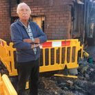 Gordon Youngs smart car caught fire outside his home on September 18.Picture: Lily Newton-Browne