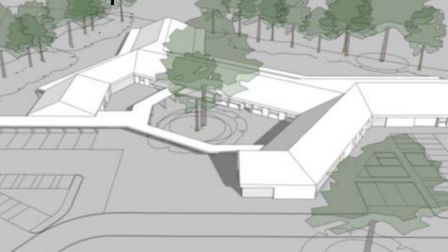 An indicative look at how the new school would appear. Picture: North Somerset Council