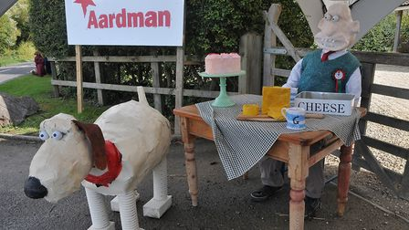Wallace and Gromit, Aardman by the Snellgrove Steer family.Picture: Jeremy Long