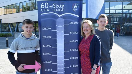 Headteacher Dee Elliott with students launching the fundraising appeal.