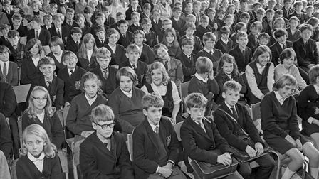 A section of the attendance at the first speech day of Churchill Comprehensive School. Picture: