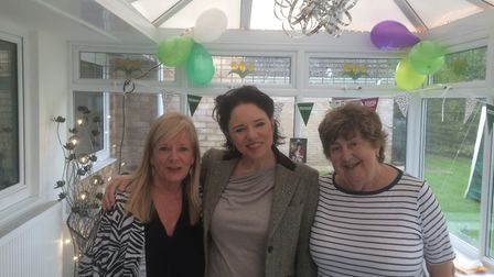 Tara Newley-Arkle with Pauline Kelly and Sue Bisdee at their second fundraiser for the charity.