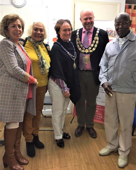 The mayor and mayoress of Weston, Councillor Mark Canniford and Estelle Canniford at the North Somer