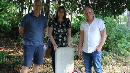Suzanne paid a visit to the Commonwealth War Graves