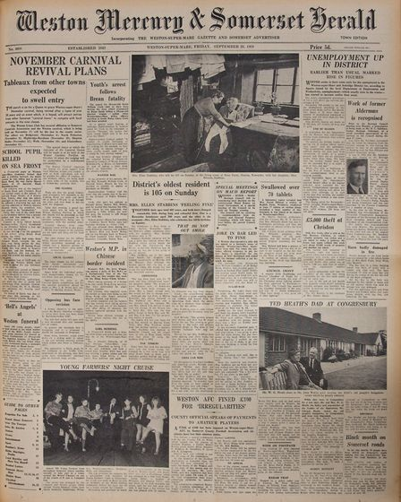 Front Page 26th September 1969 Edition. Picture: MARK ATHERTON