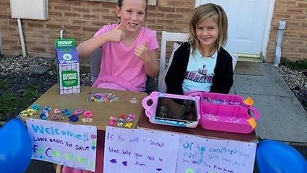 Maisie Smith and Paris Yianni raised more than £100 for charity. Picture: Lindsey Tucker