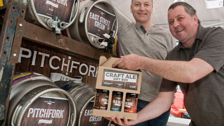 Mark Davey and Dave Turner from Pitchfork Ales. Picture: MARK ATHERTON