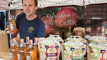 Toby from Harry's Cider at eat:Weston. Picture: MARK ATHERTON