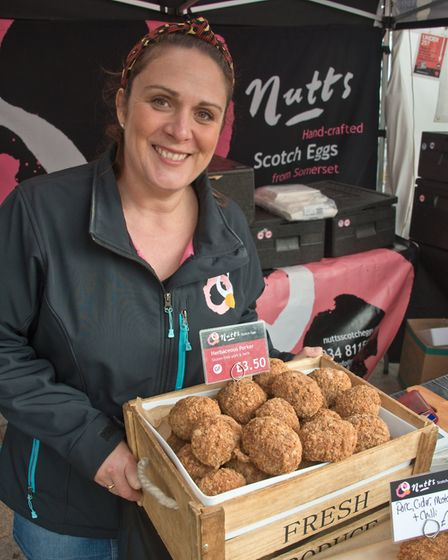 Louise Nutt selling her Scotch Eggs at Eat: Weston. Picture: MARK ATHERTON