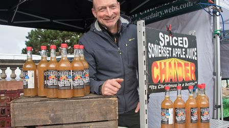 Andy Rock, spiced fruit juice and ciders at eat:Weston. Picture: MARK ATHERTON