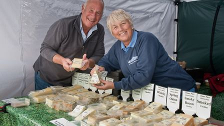 Times Past Cheese Dairy - Stephen and Janice Webber at eat:Weston. Picture: MARK ATHERTON